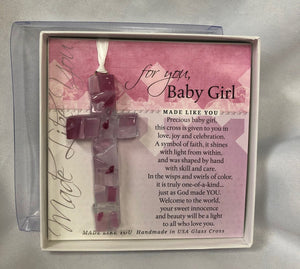 Ornament ~ Baby Cross (Boy and Girl available)