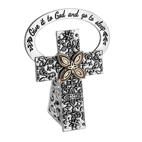 Bedside cross-Give it to God Prayer Box