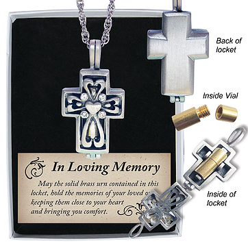Memorial Locket - Cross