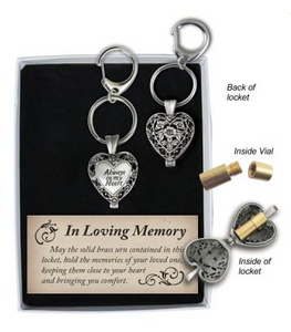 Memorial Locket Key Chain - Always in my Heart