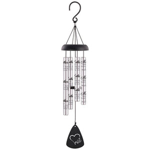 "Wind Chimes ~ 21"" Sonnet Chimes Silver (Multiple Verses)"