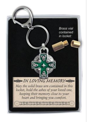 Memorial Locket Key Chain - Celtic Cross