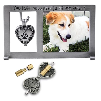 Memorial Frame - You Left Paw Prints On My Heart