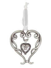Load image into Gallery viewer, Memorial Heart Ornament ~ Always in my Heart