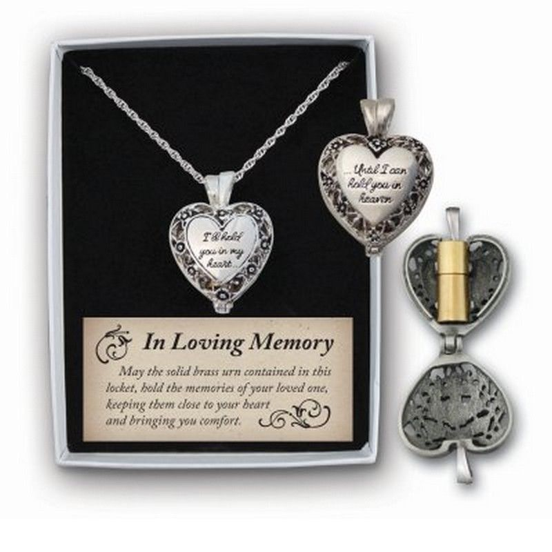 Memorial Locket - I'll hold you in my heart...