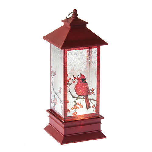 Cardinal Lighted Shimmer Lantern