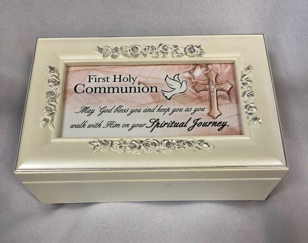 Music Box ~ First Communion (ivory finish)