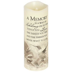 "Everlasting Glow 8"" Candle ~ ""A Memory"""