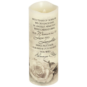 "Everlasting Glow 8"" Candle ~ ""Tears of Sorrow"""