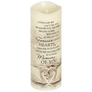 "Everlasting Glow 8"" Candle ~ ""In Loving Memory"""