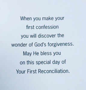 Greeting Card ~ First Reconciliation/Penance