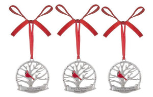 Ornament ~ Cardinal Memorial Ornaments (multiple verses)