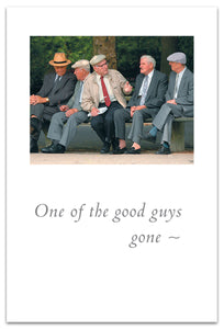 "Cards-Condolence ""One of the good guys gone..."""