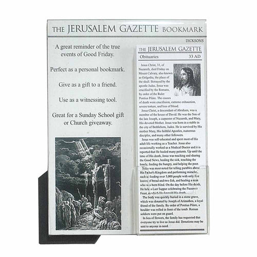 Bookmark ~ Jerusalem Gazette Jesus Obituary