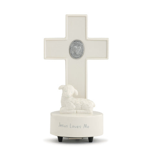 Jesus Loves Me Medallion Musical Cross