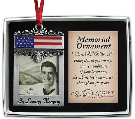 Memorial Ornament ~ In Loving Memory Patriotic