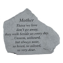 "Load image into Gallery viewer, Garden Stone-Mother/Father ""Those we love...."""