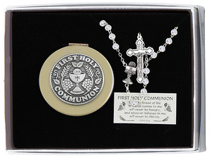 Rosary & Keepsake Box ~ First Communion (2 colors available)