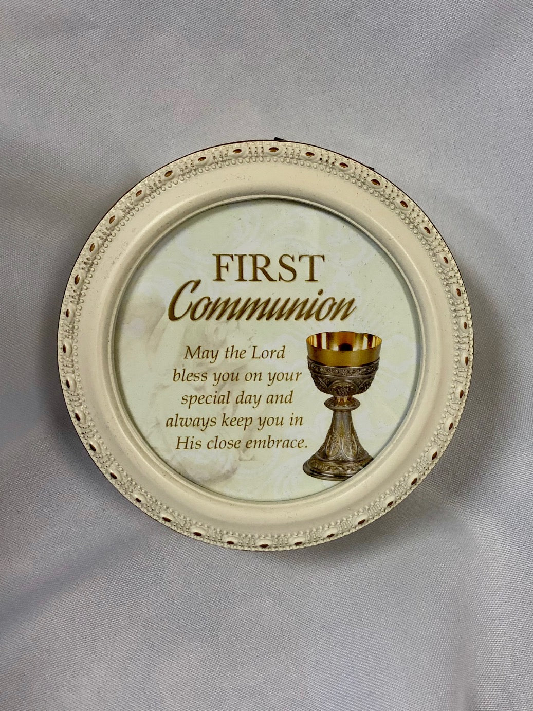 Treasure Box ~ First Communion (round ivory)