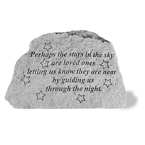 "Garden Stone-""Perhaps the stars in the sky..."""