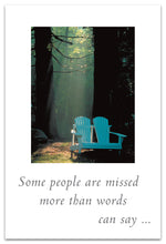 "Load image into Gallery viewer, Cards-Condolence "" Some people are missed...."""