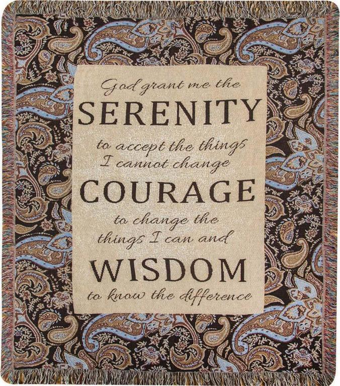Inspirational Throws ~ Serenity Paisley