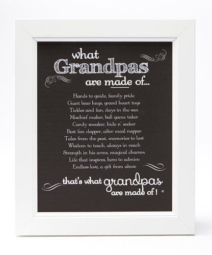 Framed-What Grandpas are Made Of...