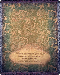 Inspirational Throw~When Someone You Love