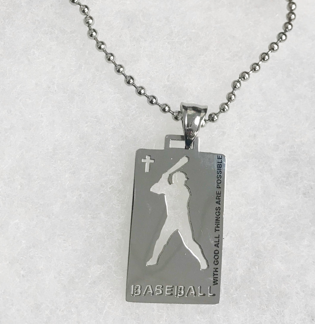 Sports Necklace-Baseball