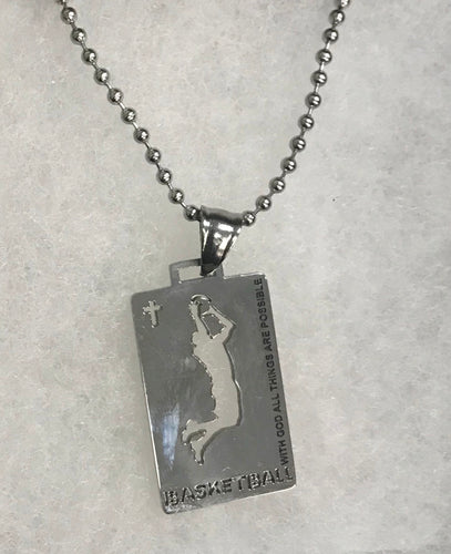Sports Necklace-Basketball