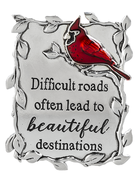 Cardinal Visor Clip-Difficult Roads