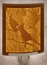 Load image into Gallery viewer, Nightlight ~ Cardinals Plain or with Color $33.95/$39.95