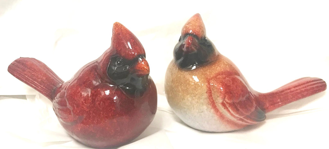 Cardinals-Set of 2 Cardinal Figurines