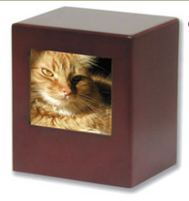 Load image into Gallery viewer, Pet Urn ~ Cherry Cube with Photo