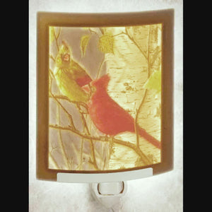 Nightlight ~ Cardinals Plain or with Color $33.95/$39.95