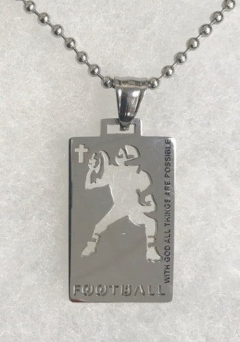 Sports Necklace-Football
