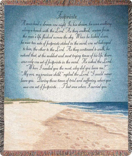 Inspirational Throws ~ Footprints in the Sand