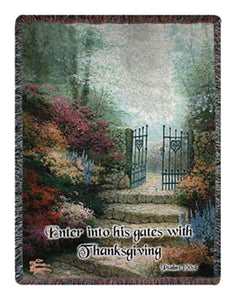 "Inspirational Throw~""Garden of Promise"