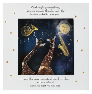 "Shadowbox Wall Plaque-""On the Night You Were Born...Giraffes"""