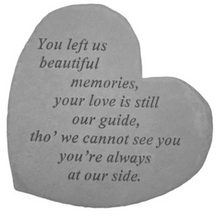 Load image into Gallery viewer, Garden Stone ~ Heart (Multiple Verses)