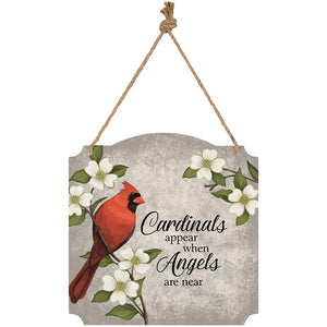 "Metal Wall Sign-""Cardinals appear..."""