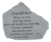 "Garden Stone-Grandmother/Grandfather ""Those we love..."""