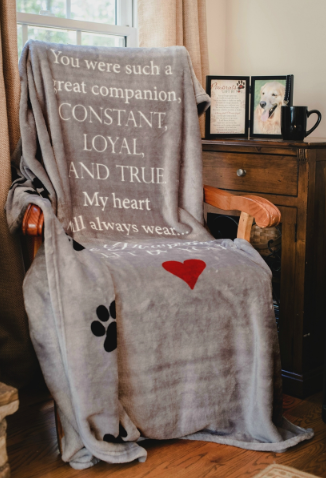 Pet Hugs Blanket ~ Paw Prints Left By You