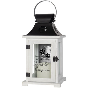 Pet Memorial Lantern with Picture Frame