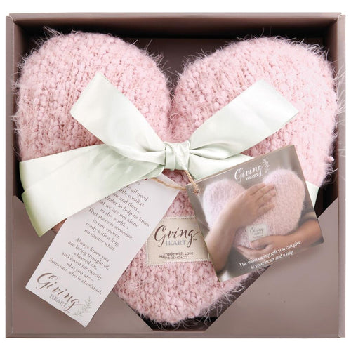 Giving Heart Pillow-Pink, Taupe or Cream