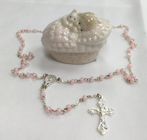 Rosary ~ Baby Girl Keepsake Box