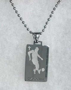 Sports Necklace-Soccer