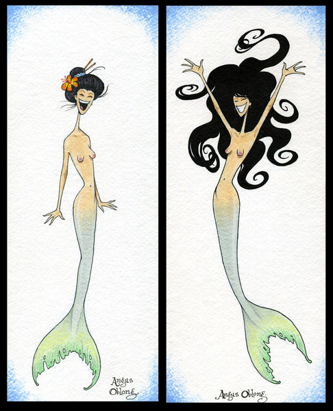 Angus Oblong's Asian Mermaid Collection!