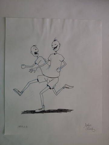 Biff & Chip. A Study in Running. Development Art from The Oblongs.