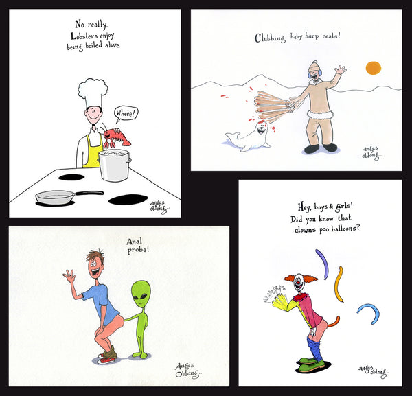 Angus Oblong's Funny Art Prints.
